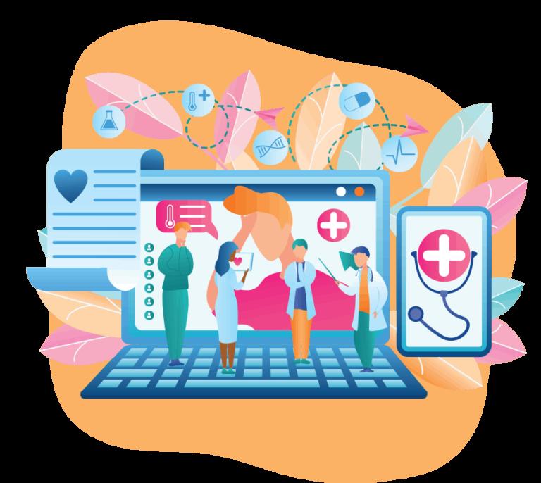 Healthcare website medical information